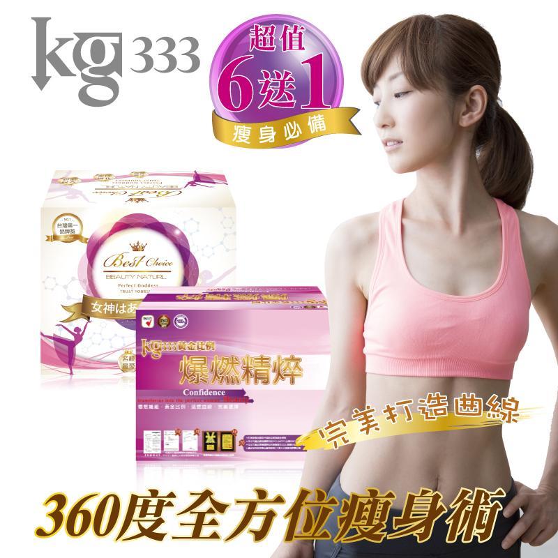 KG333爆燃飲+KG333速燃抑阻雙纖錠(6組)